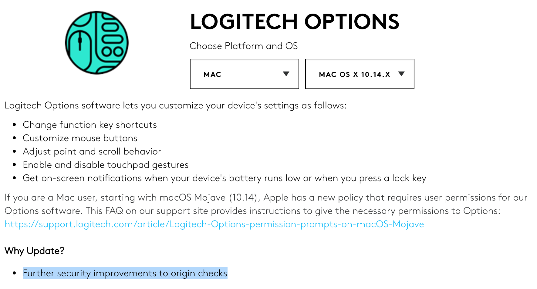 Dissecting Logitech Options on macOS